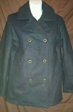 Calvin Klein Jeans woman's coat grey wool military size S worn once original
