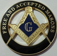 Freemason Free and Aceepted Masons Cut Out Car Emblem in Black (Part# CE 18)