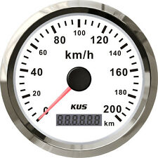 85mm White GPS speedometer 0-200km/h for car truck CMSB-WS-200L (SV-KY08122)