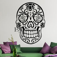 Wall Decal Sugar Skull Decal Vinyl Sticker Room Home Decor Bedroom Art Removable