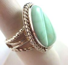 Unique Desert Rose Trading Mint Green Stone Sterling Silver .925 Statement Ring