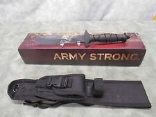 "U.S. ARMY - 11"" FIXED BLADE FIGHTING KNIFE - 5."" DBL. BLD. - MOLLE - NEW IN BOX"