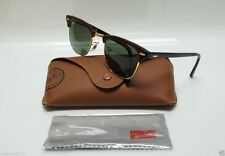 Women's Ray Ban Clubmaster 3016 W0366 Tortoise Sunglasses Black Frame 51mm