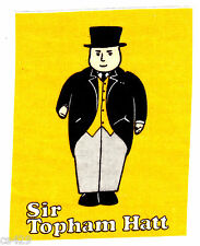 "7"" THOMAS THE TRAIN TANK  SIR TOPHAM HAT CHARACTER  FABRIC APPLIQUE IRON ON"