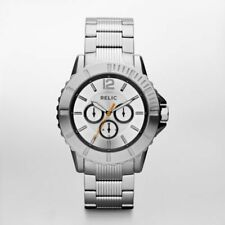 NIB RELIC by FOSSIL Gresham Multifunction Stainless Steel Men's Watch