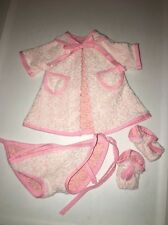 "Chenille Bathrobe Set For 16"" Tiny Tears Baby Doll"