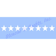 "1"" STAR STENCIL STARS CELESTIAL CRAFT STENCILS BORDER TEMPLATE TEMPLATES NEW"
