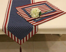 Vintage Patriotic American Country Table Flag Table Runner Home Hotel Tablecloth