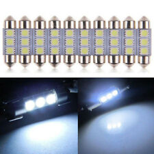 10 pcs White 36MM 3 LED 5050 SMD Festoon Dome Car Light Interior Lamp Bulb 12V