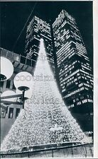 1967 Lighted Christmas Tree Place Ville Marie Montreal Canada Press Photo