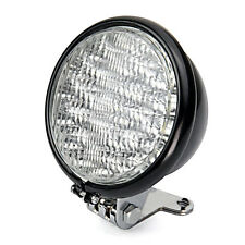 "12V Black Universal Motorcycle 5"" 30 Led Round Headlight High Low Beam Light"