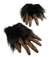 ADULT BROWN WEREWOLF LARP APE CHIMP WOLF GORILLA FURRY HANDS  COSTUME GLOVES NEW