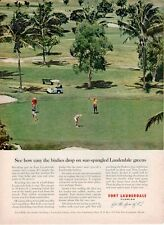 1961 Fort Lauderdale Florida Golf Course on the Beach PRINT AD
