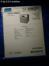Sony Service Manual SA WMSP1 Active Subwoofer (#5379)
