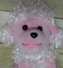 "SINGING and MOVING Pink Poodle Plush Toy,  ""I want to be loved by you"""