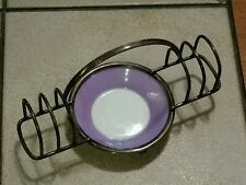 Vintage, Royal Doulton / Hukin & Heath Lady's Toast Rack, Hallmarked Silverplate