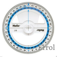 360 Degree Helix Angle Measure. 100mm Diameter. Protractor. FIRST CLASS POST