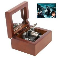 Square Hand Crank Wood Music Box :  Harry Potter Hedwigs Theme