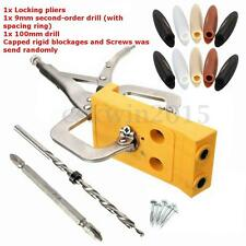 Pocket Hole Jig Hole Drill Guide + Clamp Kit Woodworking Joint Carpentry Tool