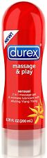Durex Massage and Play 2-in-1 Massage Gel & Personal Lubricant Sensual 6.76oz