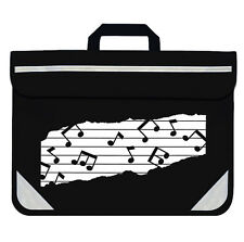 Mapac Black Duo School Homework Music Bag Case with Music Note Design RRP £8.99