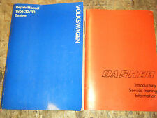 1974 VOLKSWAGEN DASHER FACTORY SERVICE MANUAL TYPE 32 33 SHOP REPAIR