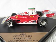 QUARTZO, F1 FERRARI 312T, BRAZIL GP WINNER 1976 1:43 Scale Nicky Lauda, Ref 4052