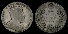 1910 Canada Silver 50 Cents Edward VII G-6