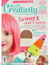 Docrafts creativity magazine June 2016 no. 71 + free A5 paper pack & 50 buttons