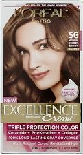 L'Oreal Paris Excellence  Color 5G Medium Golden Brown (Pack of 6)