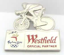 WESTFIELD SILVER BIKE RIDER SYDNEY OLYMPIC GAMES 2000 PIN BADGE COLLECT #303