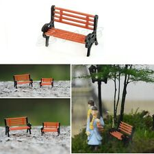 Park Bench Chair Garden Layout Scenery Moss Micro Landscape DIY Decoration 2.8cm