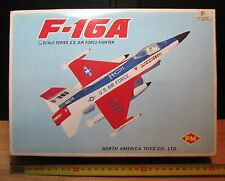 F-16A - BATTERY OPERATED - NORTH AMERICA TOYS LTD - NEW OLD STOCK - 80'S Vintage
