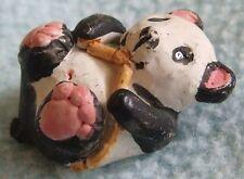Vintage 1992 PETER FAGAN Hand Painted Miniature Animal Ornament - PANDA