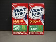 2 SCHIFF Move Free JOINT HEALTH Advanced + MSM 2x120ct Exp 12/17+ DE 8483