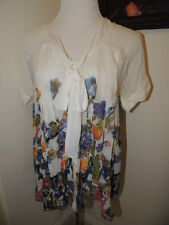 Image of Me Size S Small Tie Pleated Designer Boutique Top NWT $125