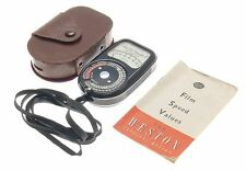 SANGAMO WESTON MASTER II CINE LIGHT EXPOSURE METER LEATHER POUCH INSTRUCTIONS