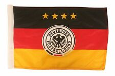 """GERMANY .. LOGO FIFA WORLD CUP 12""""X18"""" INCH CAR STICK FLAG BANNER WITHOUT POLE"""