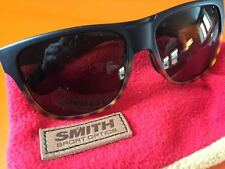 "SMITH OPTIC ""THE LOWDOWN"" MATTE BLACK & TORTOISE SPORT SURF SUNGLASSES W/CASE_A+"