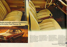 Publicité Advertising 1973  (Double page)  Nouvelle FORD Taunus 1600 GLX