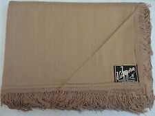 "VICUÑA Vintage Pure Vicuna Argentina Artisan X-Large Shawl Throw 72"" X 49"" 400g"