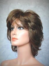 Short Soft Shaggy Layered Brown Classic Cap Full Synthetic Wig Wigs - #43A