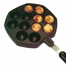 Takoyaki Pan (12 Cavities) / Japanese Octopus Cake / Takoyaki Maker / snacks