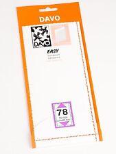 DAVO EASY TRANSPARENT STROKEN MOUNTS T78 (215 x 82) 10 STK/PCS