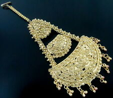 GOLDEN TONE PASSA JHOOMER BRIDAL HEAD HAIR BOLLYWOOD INDIAN TRADITIONAL JEWELRY