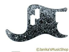 Precision bass guitar pickguard scratch plate black pearloid pearl PB BWB-A new