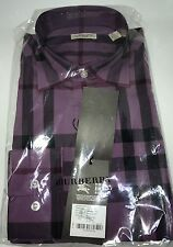 Burberry Brit Men Long Sleeve Black Current Shirt New Size L