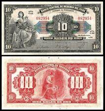 Peru 10 SOLES de Oro 26.9.1941 P 67A AUNC