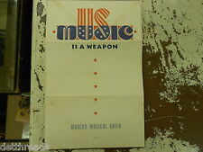 MODERN MUSIC GUILD - Music is a Weapon - PAMPHLET 1950s