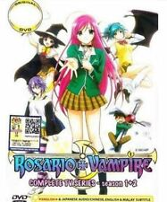 DVD Rosario + Vampire Complete TV1-26en Series Season 1+2 English Dub Well Pack